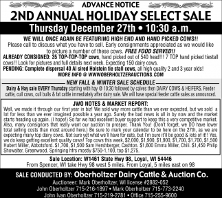 2nd Annual Holiday Select Sale
