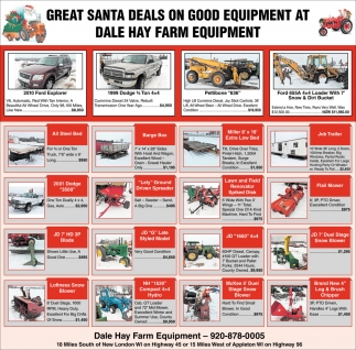 Great Santa Deals on Good Equipment