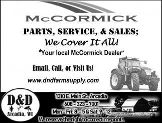 Parts, Service & Sales