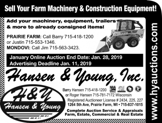 Sell Your Farm Machinery