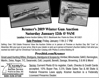 Kramer's 2019 Winter Gun Auction