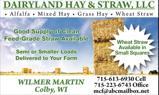 Good Supply of Clean Feed-Grade Straw Available