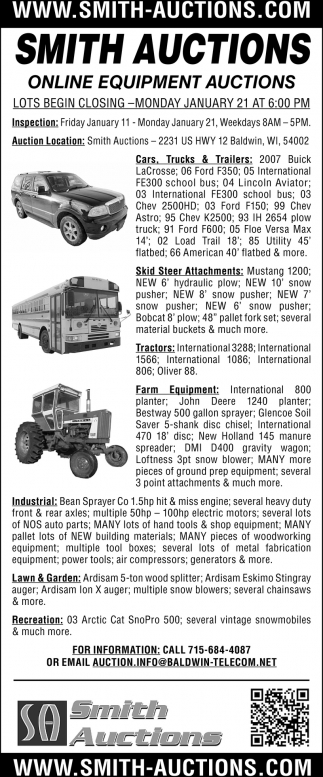 Onlune Equipment Auctions