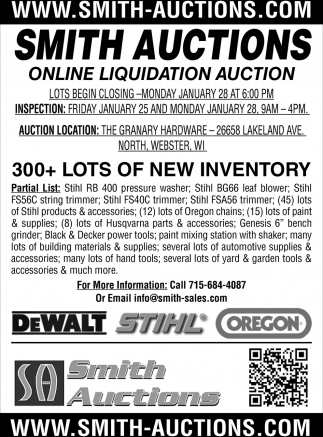 Online Liquidation Auction