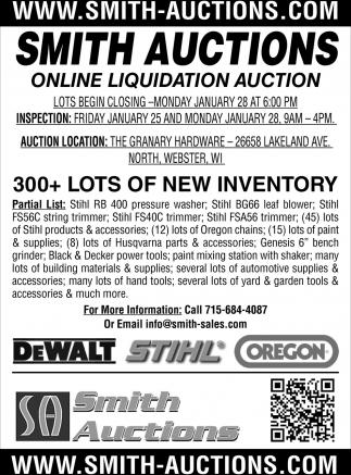Online Liquidation Auction