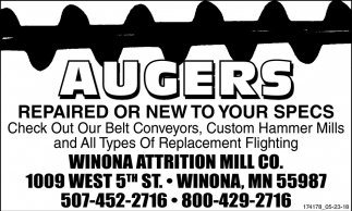 Augers Repaired or New to Your Specs