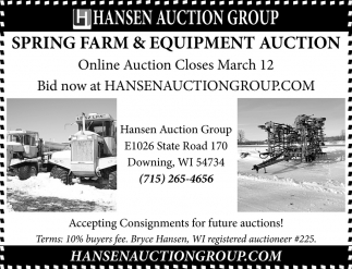 Spring Farm Equipment Auction