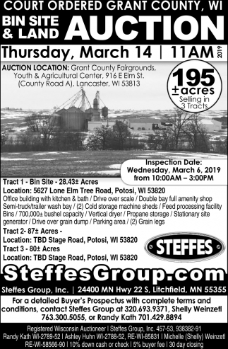 Bin Site & Land Auction