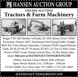 Tractors & Farm Machinery
