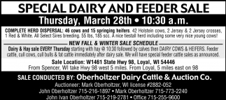 Special Dairy and Feeder Sale