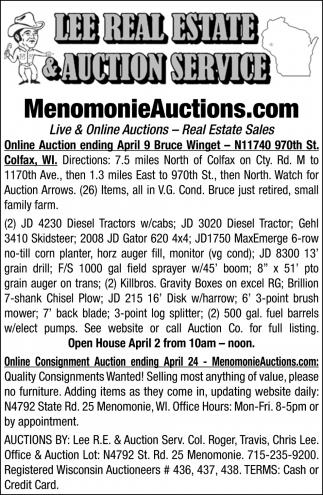 Live & Online Auctions