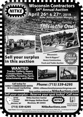 Wisconsin Contractors 54th Annual Auction
