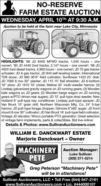 No-Reserve Farm Estate Auction