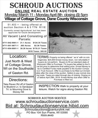 Online Real Estate Auction