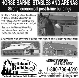 Horse Barns, Stables and Arenas