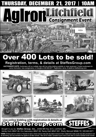 Over 400 Lots to be sold!