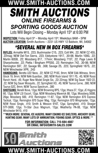 Sporting Goods Auction