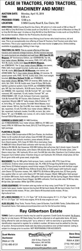 Case IG Tractors