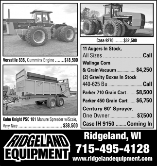 11 Augers in Stock