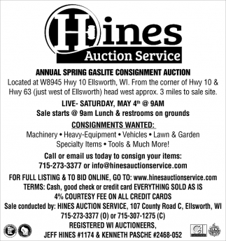 Annual Spring Gaslite Consignment Auction