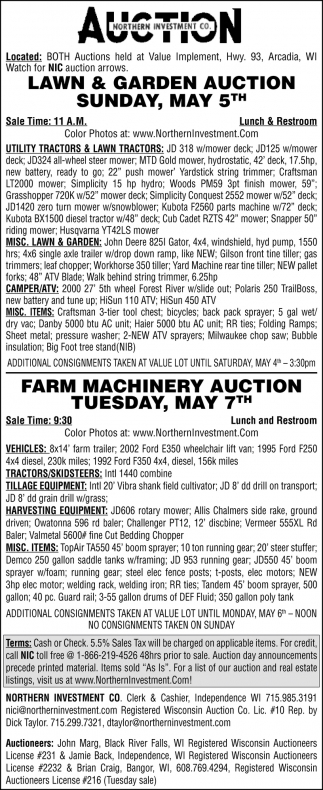 Lawn & Garden Auction
