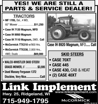 Yes! We are Still a Parts & Service Dealer!