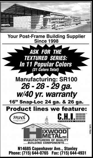 Your Post-Frame Building Supplier