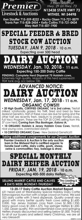 Dairy Auction