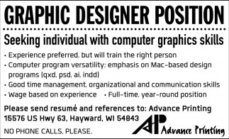 Graphic Designer Position
