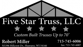 Custom Built Trusses Up to 70'