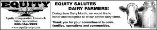 Equite Salutes Dairy Farmers