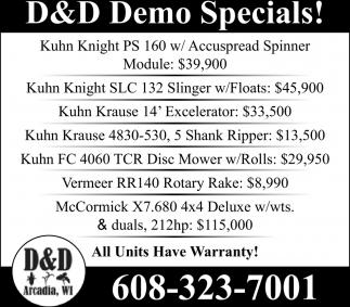 Demo Specials