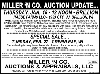 Auction Update