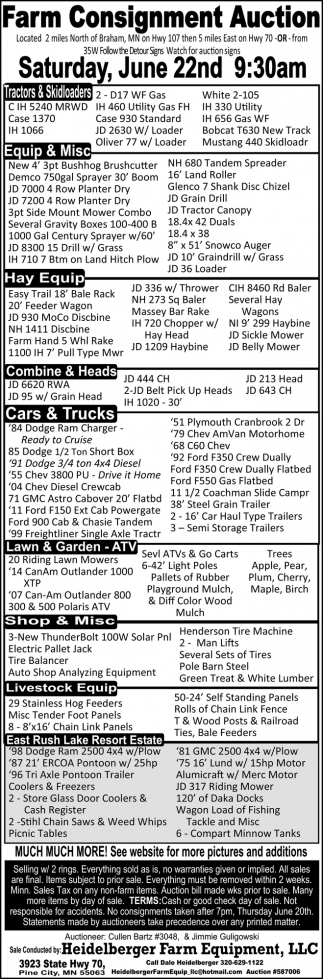 Farm Consignment Auction