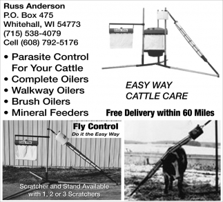 Easy Way Cattle Care 715-538-4079, Russ Anderson