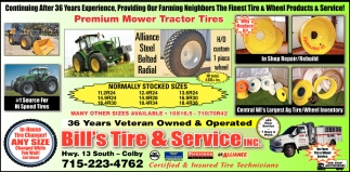 Premium Mower Tractor Tires