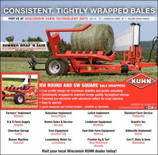 RW Round and SW Square Bale Wrappers