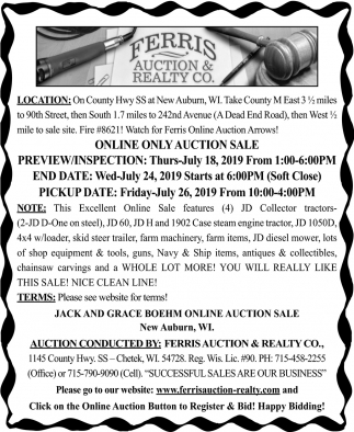 Online Only Auction Sale