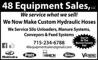 We Service What we Sell, 48 Equipment Sales, LLC, Rice Lake, WI