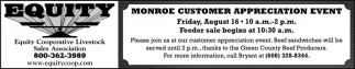 Monroe Customer Appreciation Event