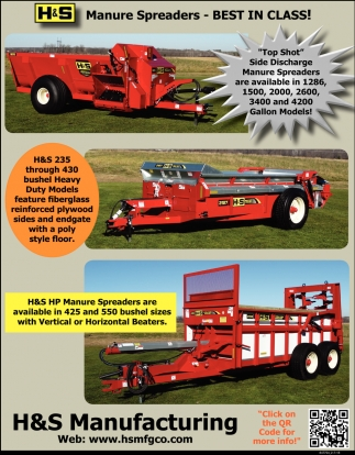 Has a Manure Spreader to Fit Your Operation!