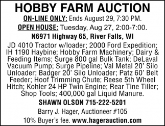 Hobby Farm Auction