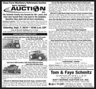 Clean Farm Machinery Retirement Auction