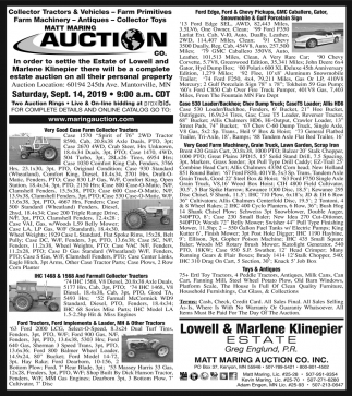 Collector Tractors & Vehicles