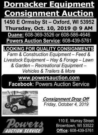 Dornacker Equipment Consignment Auction