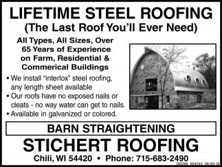 Lifetime Steel Roofing