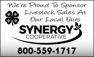 We're Proud to Sponsor Livestock Sales at Our Local Fairs