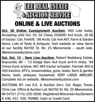 Online & Live Auctions