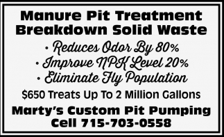 Manure Pit Treatment Breakdown Solid Waste