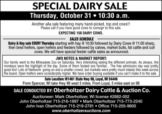 Special Feeder Cattle & Dairy Sale
